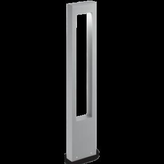VEGA Bedlampe i aluminium og glas H80 cm 1 x G9 - Grå/Klar