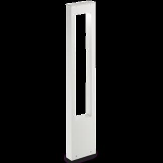VEGA Bedlampe i aluminium og glas H80 cm 1 x G9 - Hvid/Klar