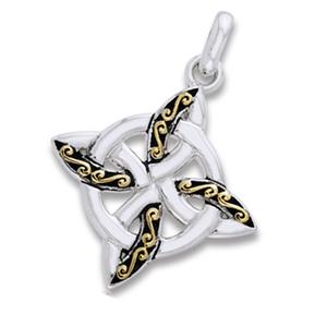 Vedhæng Keltisk 4 punkts knude - u/kæde