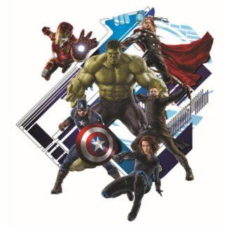 Wallsticker med hele Avengers-teamet. 60x60cm