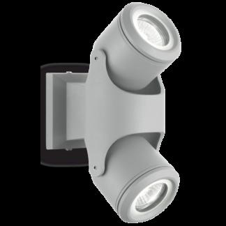 XENO Væglampe i aluminium H24 cm 2 x GU10 - Grå