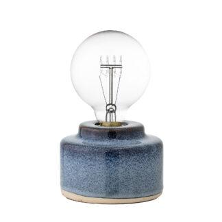 Bloomingville bordlampe (blå porcelæn/d12)