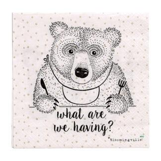 Bloomingville servietter (bjørn)