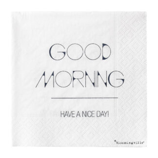Bloomingville servietter (good morning)