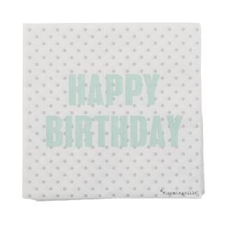 Bloomingville servietter (happy birthday)