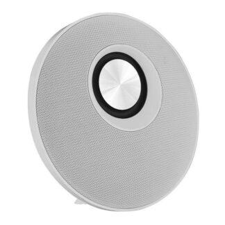 Chill Fidelity E50 rund trådløs Bluetooth Stereo Højtaler Hvid