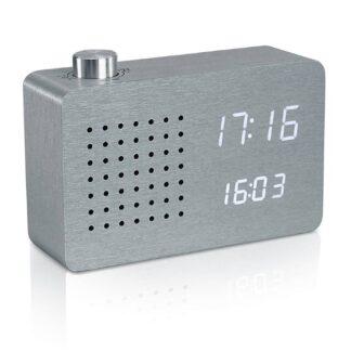 Gingko clock-radio aluminium