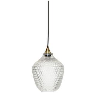 Hübsch lampe messing/glas klar