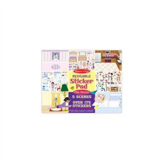 Klistermærkebog, dukkehus - Melissa & Doug