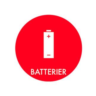 Piktogram til affaldssortering, Batterier