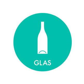 Piktogram til affaldssortering, Glas