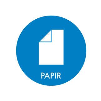 Piktogram til affaldssortering, Papir