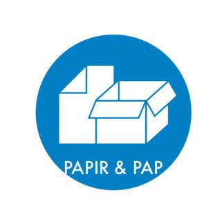 Piktogram til affaldssortering, Papir & Pap