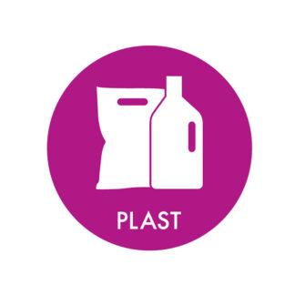 Piktogram til affaldssortering, Plast