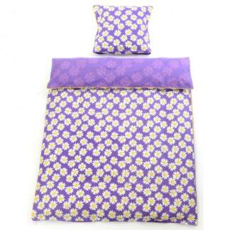 Smallstuff baby sengetøj (lilla m/margueritter)