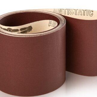 10 stk. Lange slibebånd på papir 150x4600mm Korn P500