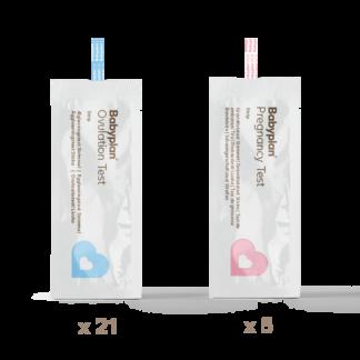 Babyplan testsæt - 21 ægløsningstest + 5 graviditetstest strimmel