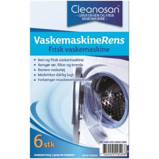 Cleanosan VaskemaskineRens tabs, 6 stk.