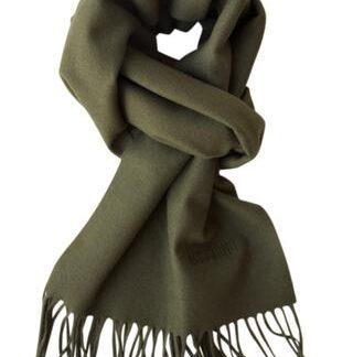 Grønt tørklæde i blød uld fra Moschino
