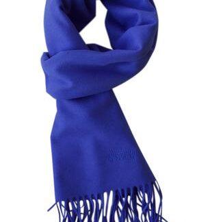 Kobolt blå tørklæde i 100% ren uld fra Moschino