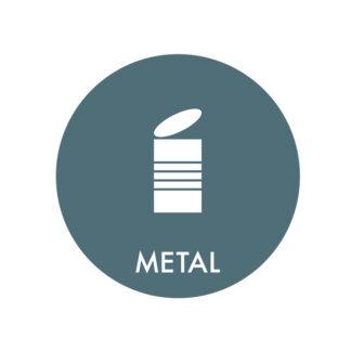 Piktogram til affaldssortering, Metal