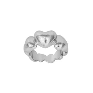 SHAPE sølv rhodinert hjerte ring - 112-000 Størrelse 54
