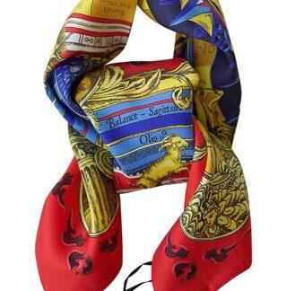 Silketørklæde med smukt print