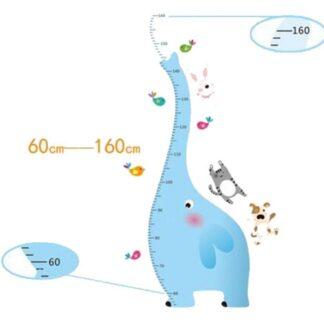 Sjov og flot målebånds wallsticker. Elefant. Fra 60-160cm.