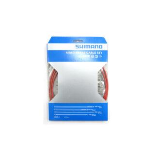 Bremsekabel sæt PTFE rød til Racer/Sportscykler