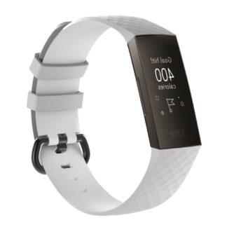 Fitbit Charge 3 - Silikone armbånd Geo Design - Hvid