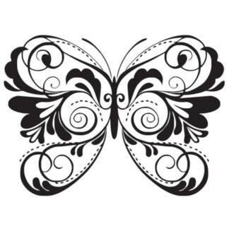 Flot wallsticker med en stor og smuk sommerfugl. 59x43cm
