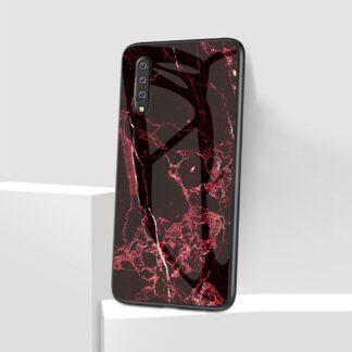 Samsung Galaxy A50 / A50s / A30s - Unique MARBLE Hybrid cover - Rød