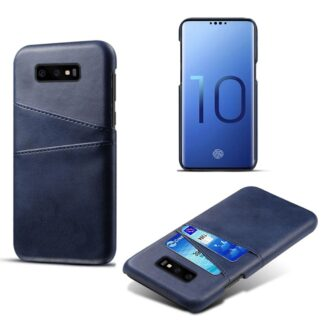 Samsung Galaxy S10E - Læder Hardcover m/kortslots - Mørkeblå