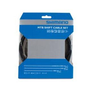 Shimano gearkabel sæt - sort til MTB/City Bike cykler