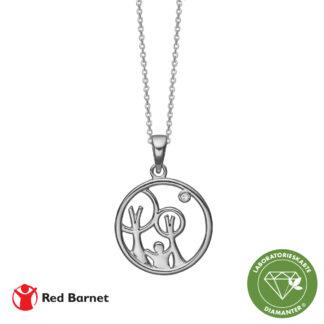 AAG Red Barnet, halskæde sølv m1 x 0,01 ct /LG diamant TW/SI2