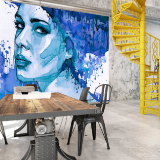 ARTGEIST Fototapet - Blue Lady 200x140