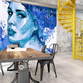 ARTGEIST Fototapet - Blue Lady 250x175