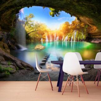 ARTGEIST Fototapet - Turquoise Lake 300x210