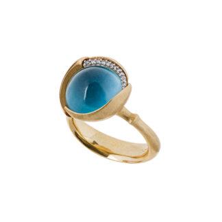 Ole Lynggaard Lotus str. 3 London Blue Topas - A2652-423 London Blue Topas 0.05 ct 55