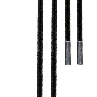 Ole Lynggaard dobbelt design snor sort - A1907-306