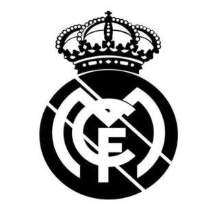 Fodbold wallsticker. Stort Real Madrid Logo. 57x83cm