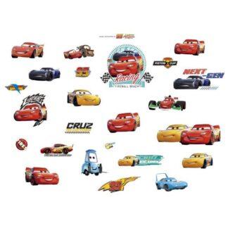 Sej Biler wallsticker med alle racerbilerne fra Cars filmene.