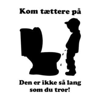 Sjov toilet wallsticker. Den er for kort. 26x35cm