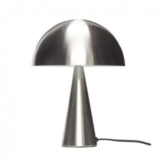 Bordlampe, metal , nikkel h.33 cm brun