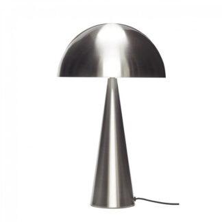 Bordlampe, metal , nikkel h.51 cm brun