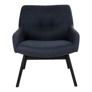 HOUSE NORDIC London lænestol, m. armlæn - grå stof og gummitræ