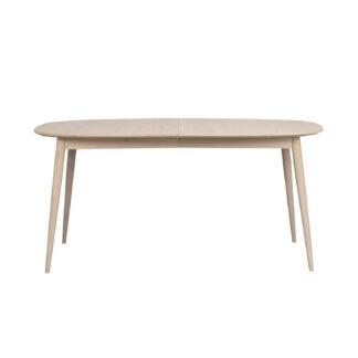 ROWICO oval Dawson spisebord m. 1 tillægsplade - hvidvasket eg (160(205)x105)