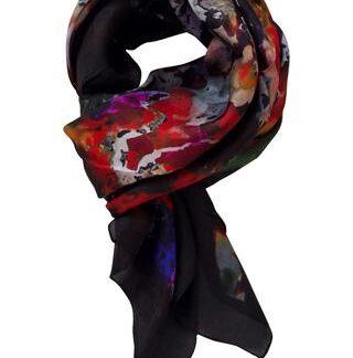 Smukt multicolored silketørklæde