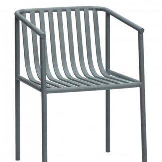 Stol,metal, grå Grå