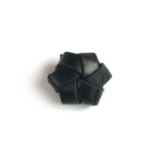 Strups - Læder blomst sort - Tilbehør